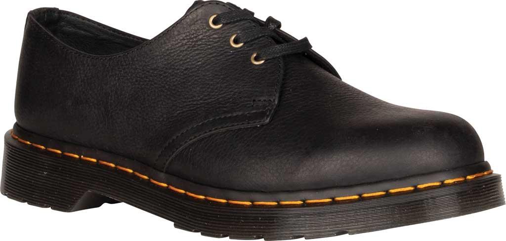 Dr. Martens 1461 3-Eye Shoe, Black Ambassador Tumbled Oily Leather, large, image 1