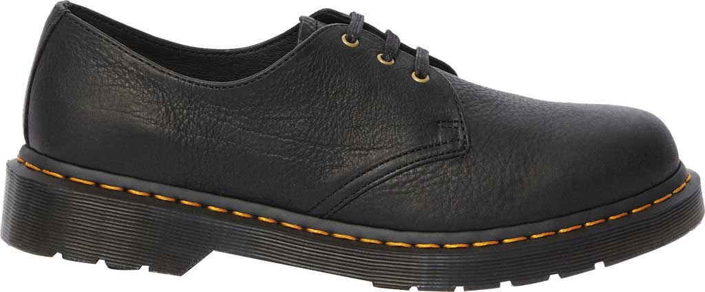 Dr. Martens 1461 3-Eye Shoe, Black Ambassador Tumbled Oily Leather, large, image 2