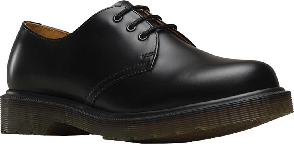 Dr. Martens 1461 3-Eye Shoe, Black Smooth Leather, large, image 1