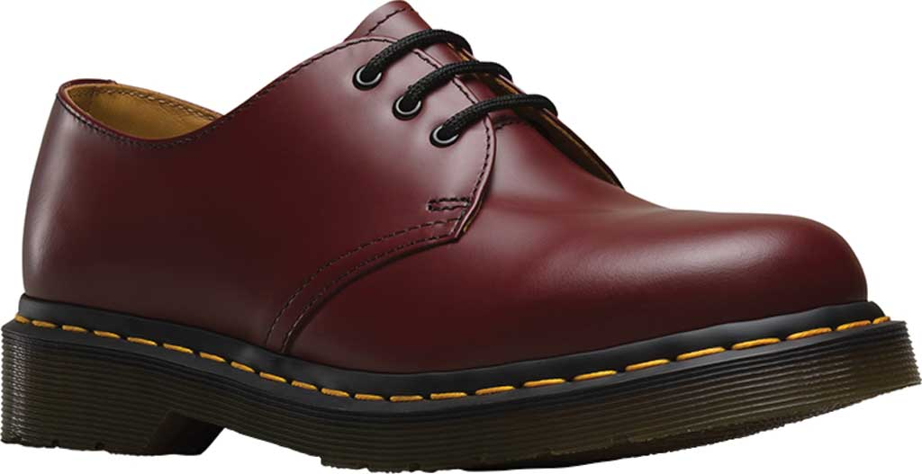 Dr. Martens 1461 3-Eye Shoe, Cherry Red Smooth, large, image 1