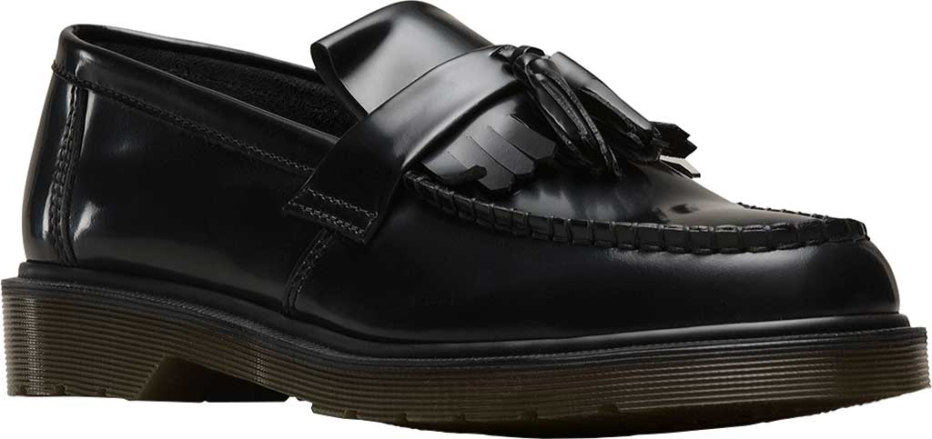Dr. Martens Adrian Tassel Loafer, Black Polished Smooth Standard Leather, large, image 1
