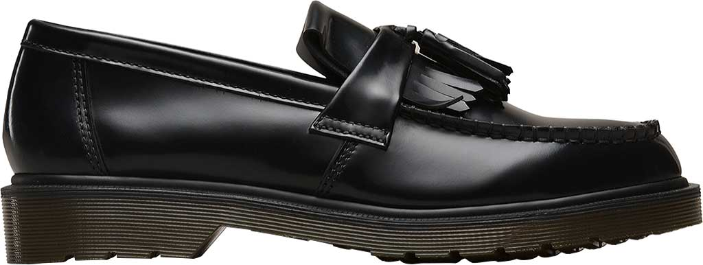 Dr. Martens Adrian Tassel Loafer, Black Polished Smooth Standard Leather, large, image 2