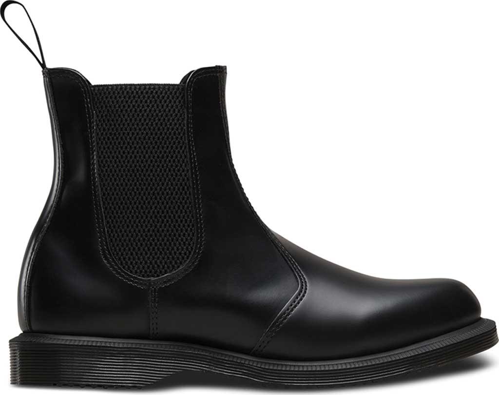 Women's Dr. Martens Flora Chelsea Boot, Black Polished Smooth, large, image 2