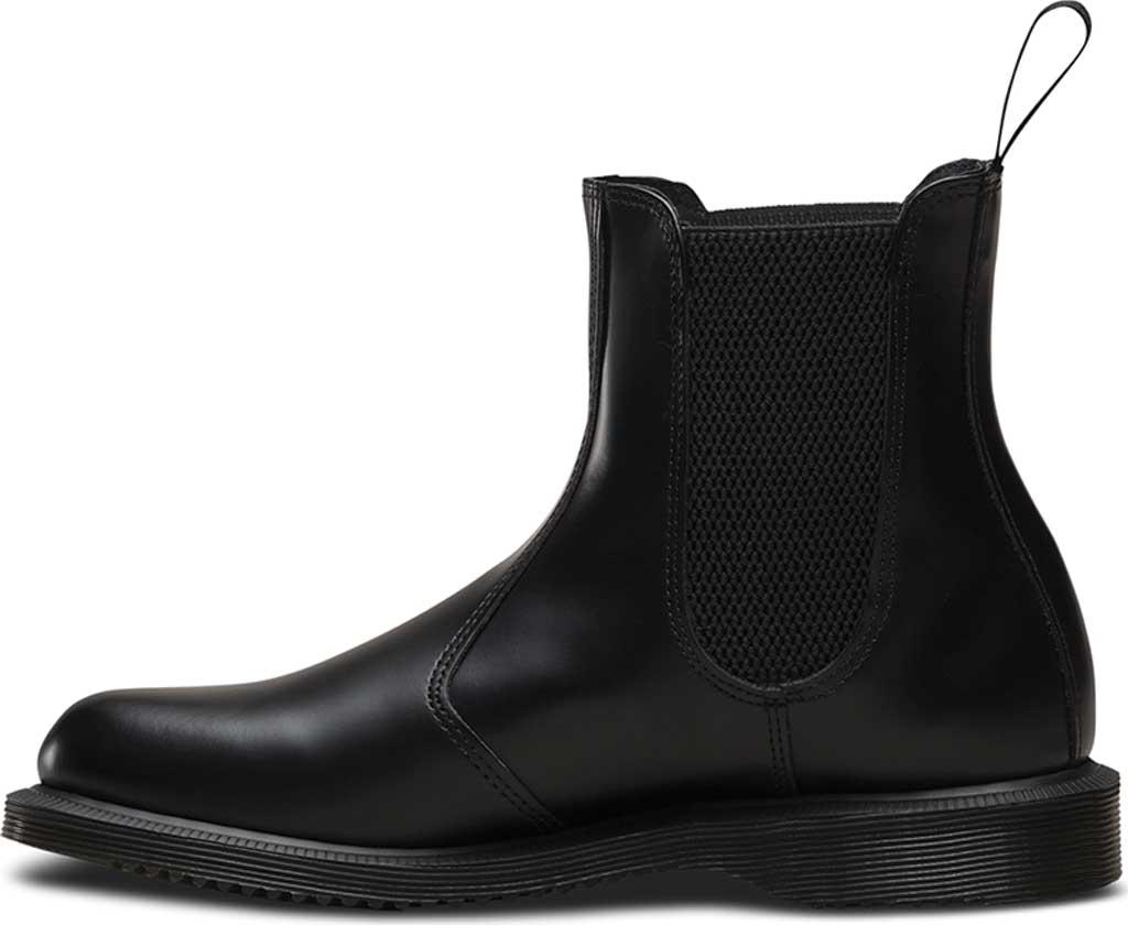 Women's Dr. Martens Flora Chelsea Boot, Black Polished Smooth, large, image 3