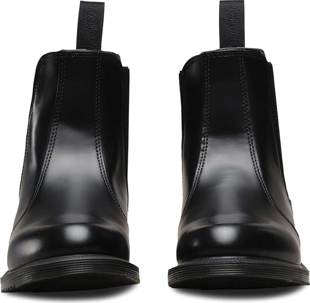 Women's Dr. Martens Flora Chelsea Boot, Black Polished Smooth, large, image 4