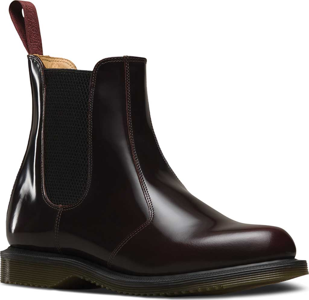 Women's Dr. Martens Flora Chelsea Boot, Cherry Red Arcadia, large, image 1