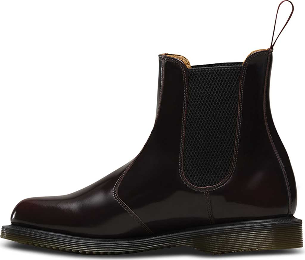 Women's Dr. Martens Flora Chelsea Boot, Cherry Red Arcadia, large, image 3