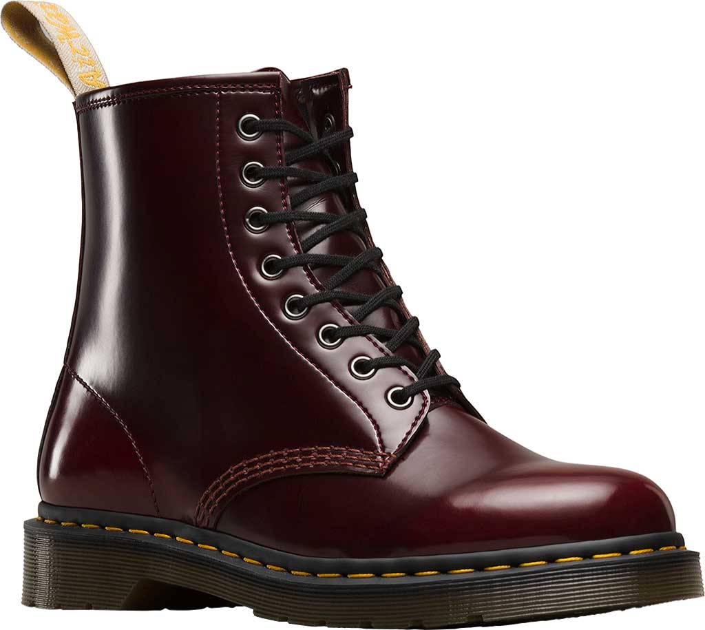 Dr. Martens Vegan 1460 8-Eye Boot, Cherry Red Cambridge Brush Off Leather, large, image 1