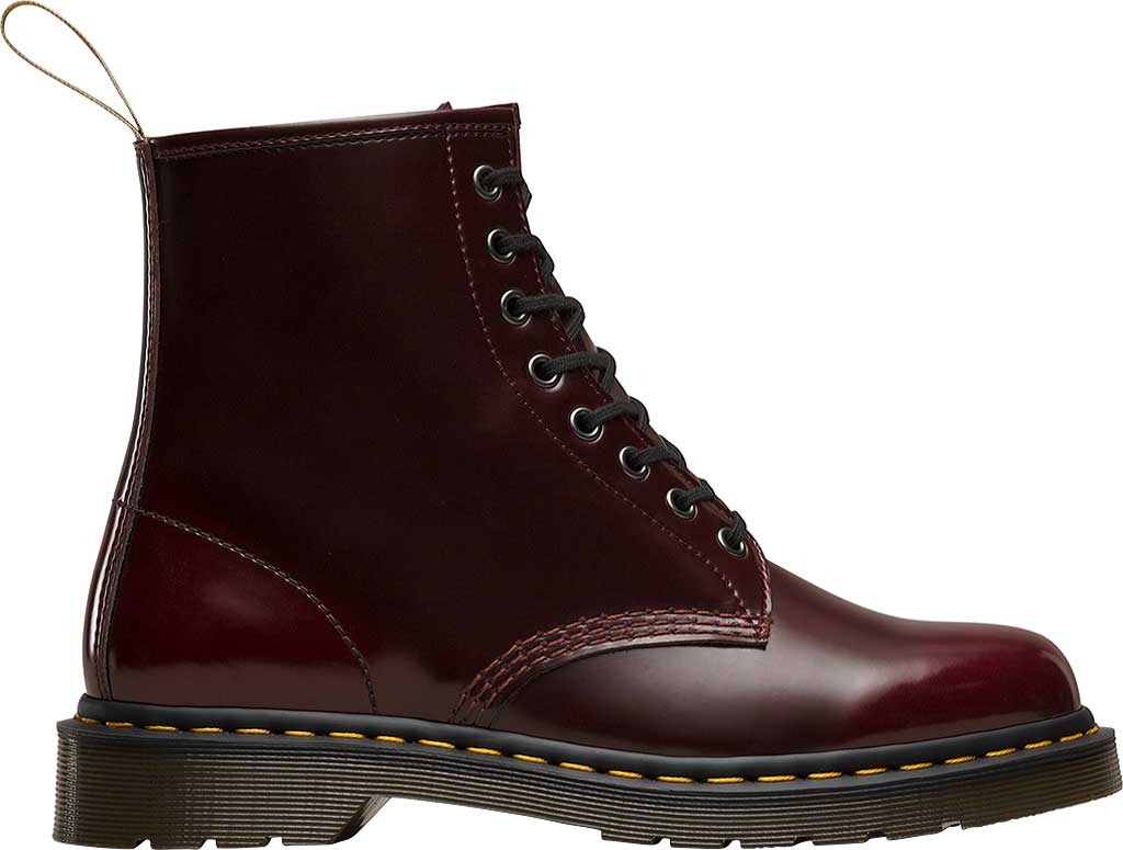 Dr. Martens Vegan 1460 8-Eye Boot, Cherry Red Cambridge Brush Off Leather, large, image 2