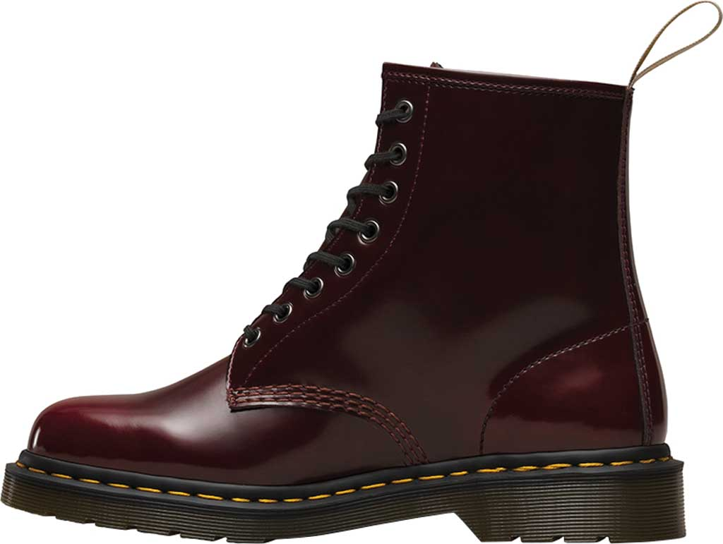 Dr. Martens Vegan 1460 8-Eye Boot, Cherry Red Cambridge Brush Off Leather, large, image 3