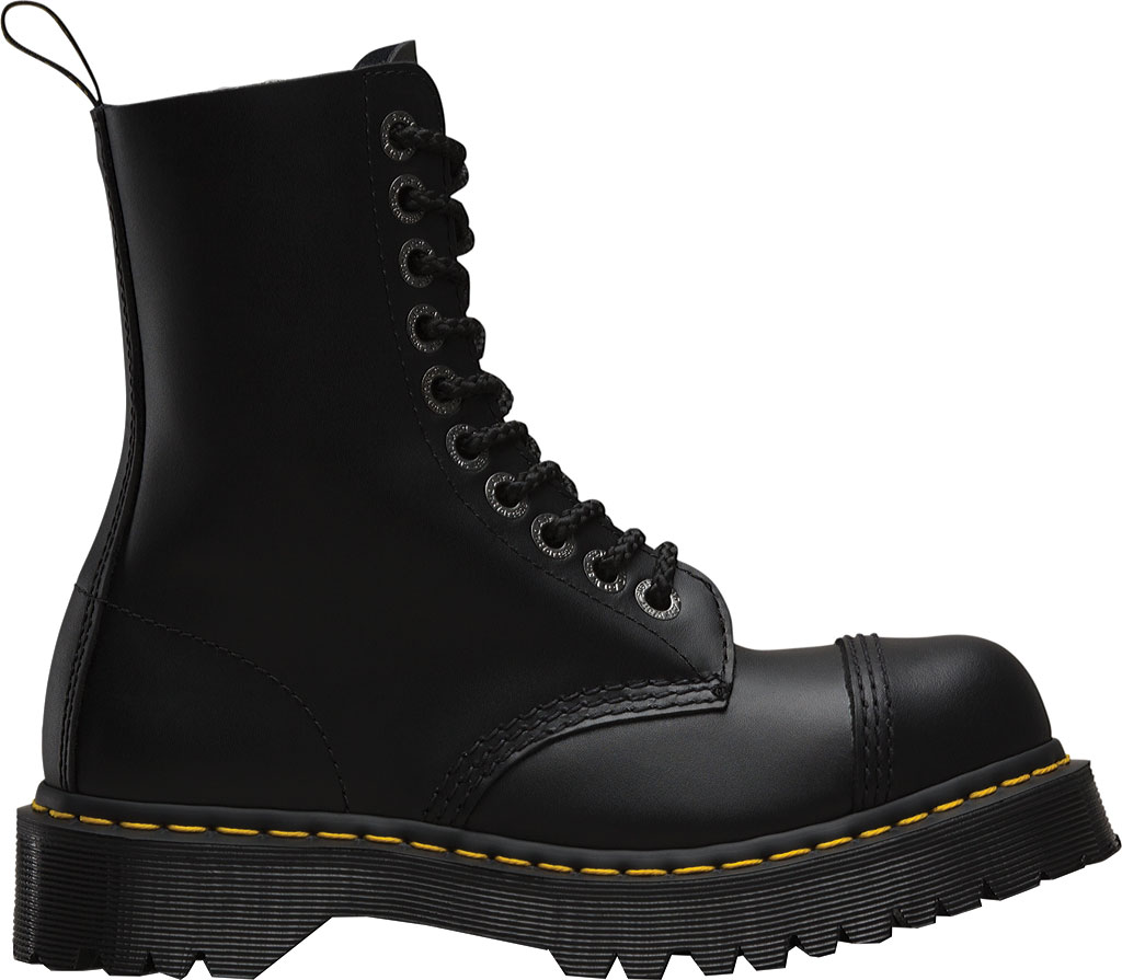 Dr. Martens 8761FH 10-Eyelet Cap Toe Boot, Black Fine Haircell, large, image 2
