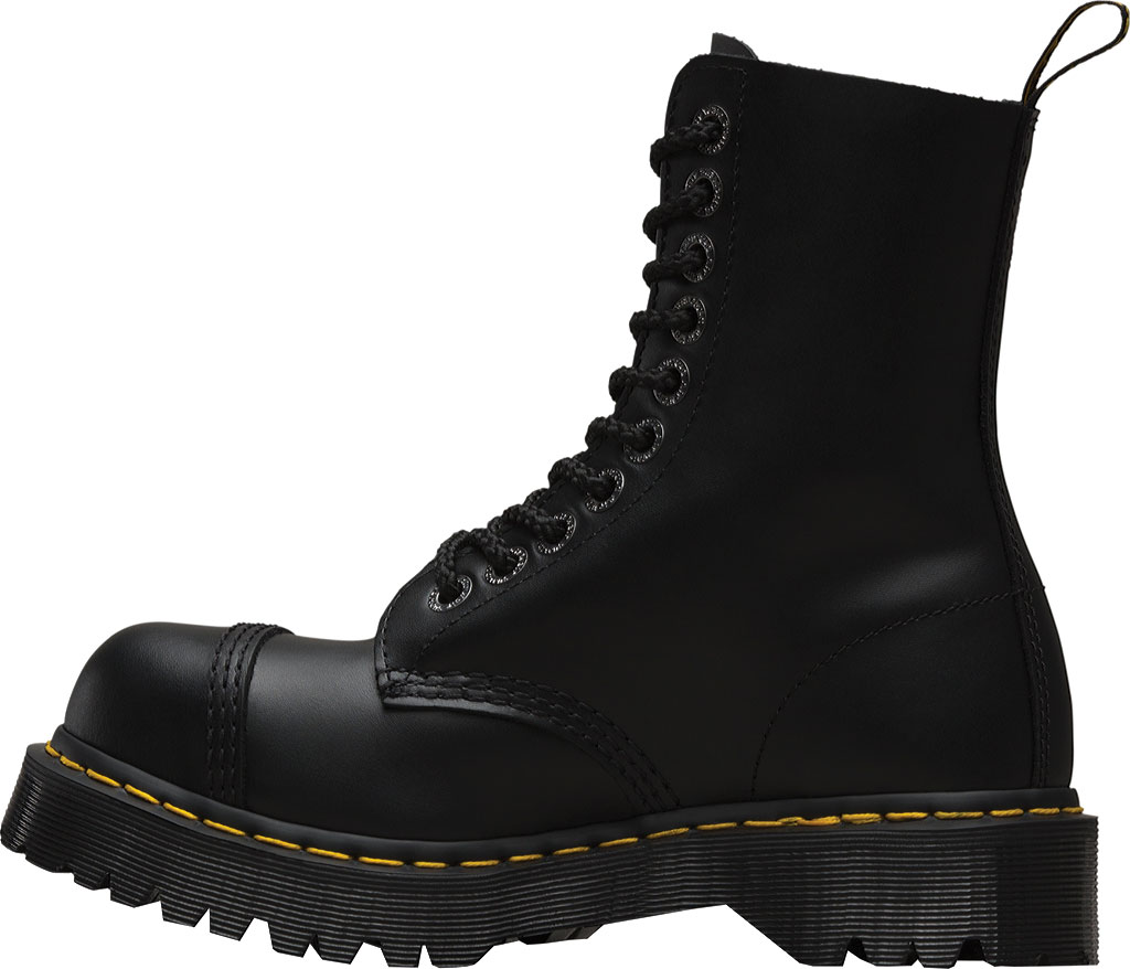 Dr. Martens 8761FH 10-Eyelet Cap Toe Boot, Black Fine Haircell, large, image 3