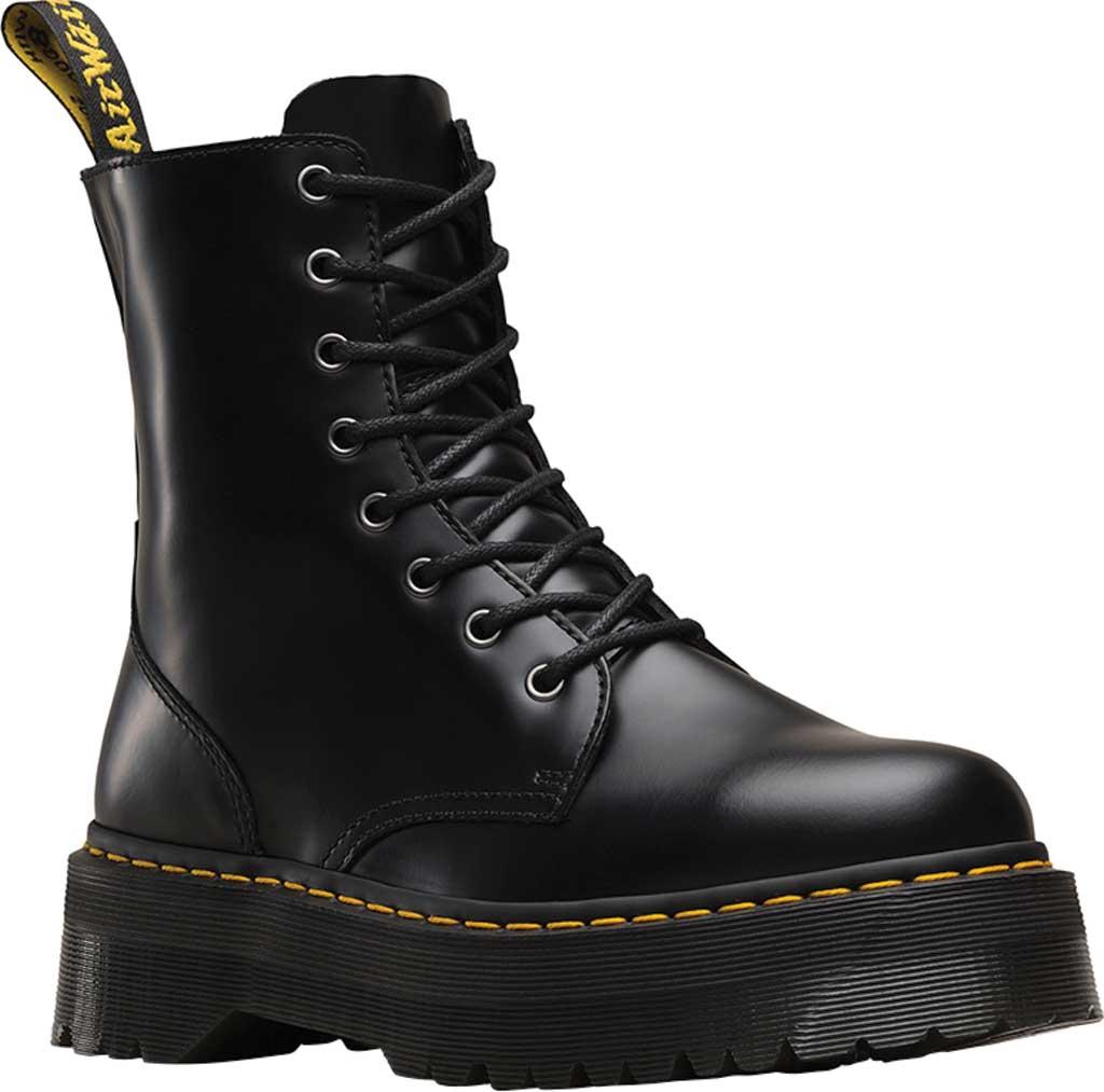 Dr. Martens Jadon 8-Eye Boot, Black Polished Smooth, large, image 1
