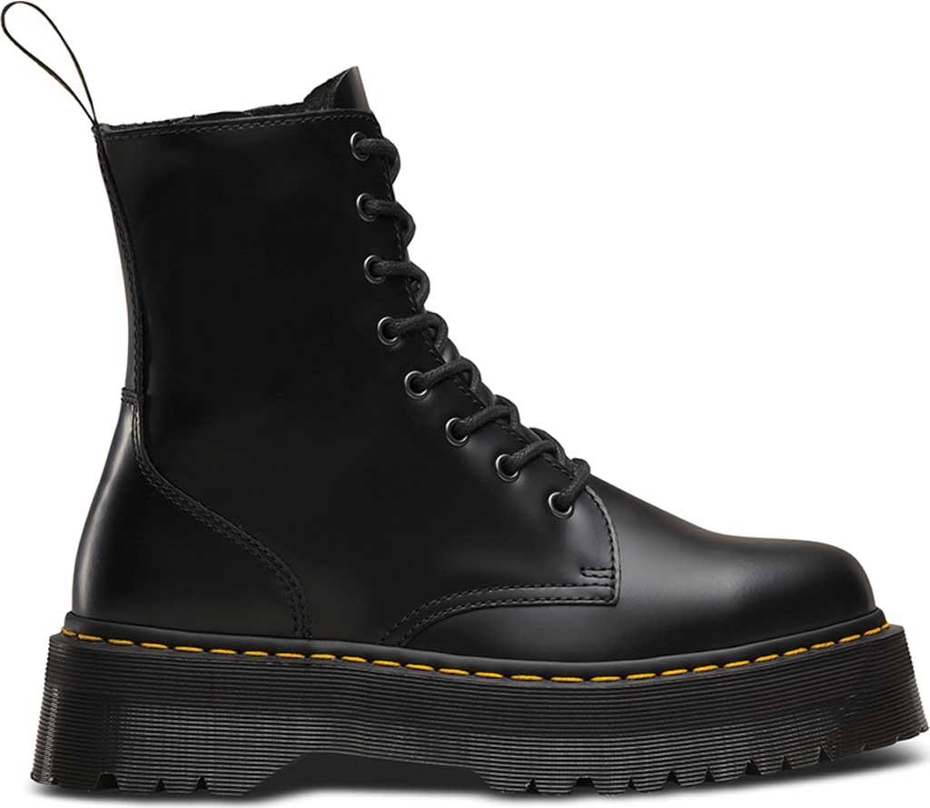 Dr. Martens Jadon 8-Eye Boot, Black Polished Smooth, large, image 2