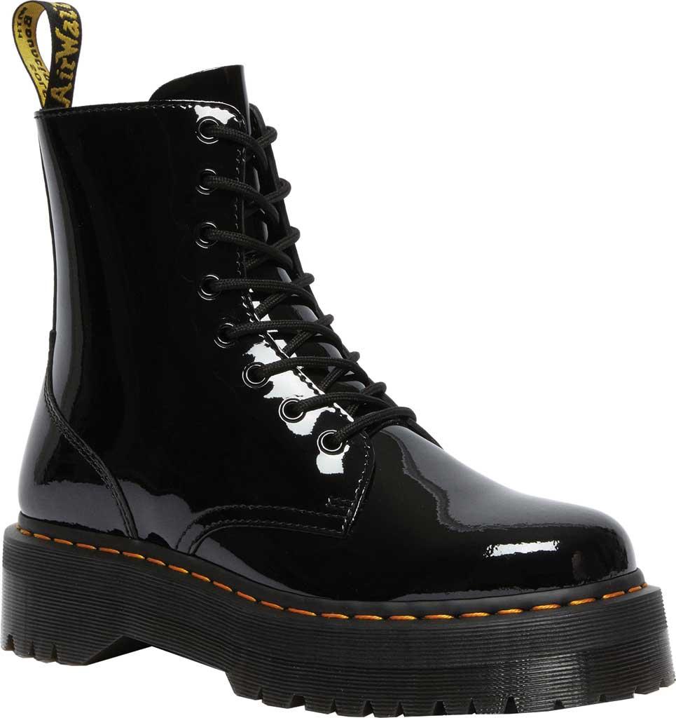 Dr. Martens Jadon 8-Eye Boot, Black Patent Lamper Leather, large, image 1