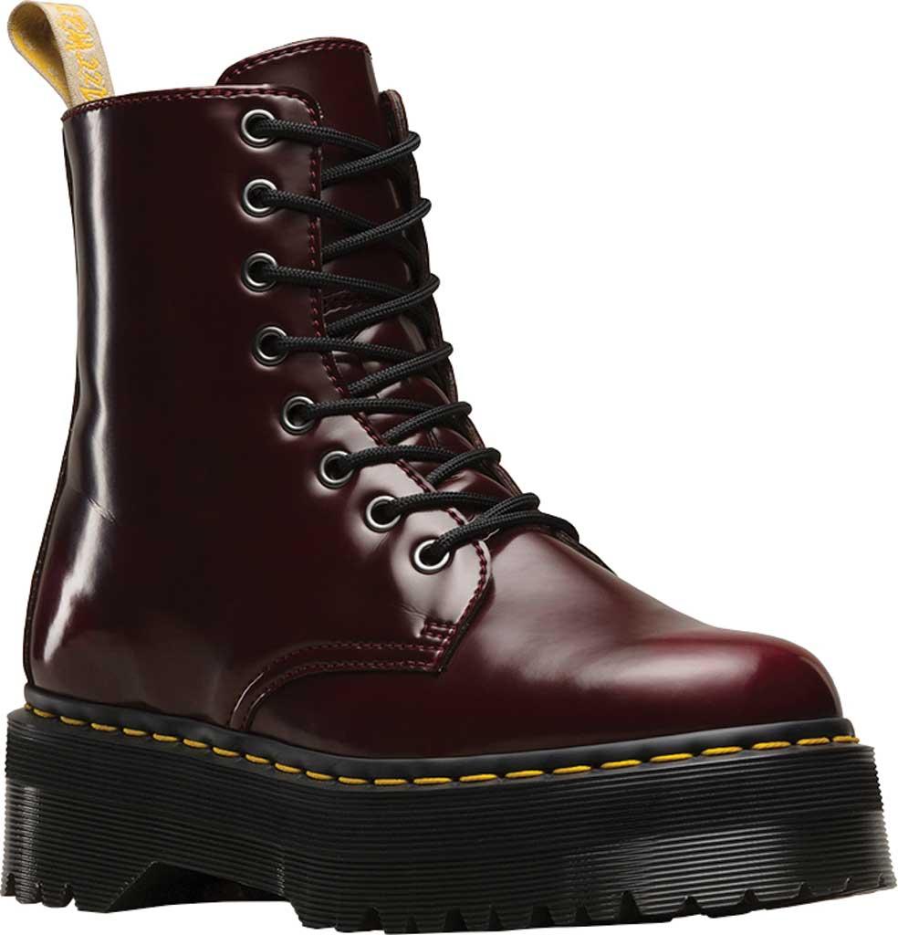 Dr. Martens Jadon 8-Eye Boot, Cherry Red Cambridge Brush Off/Vegan, large, image 1