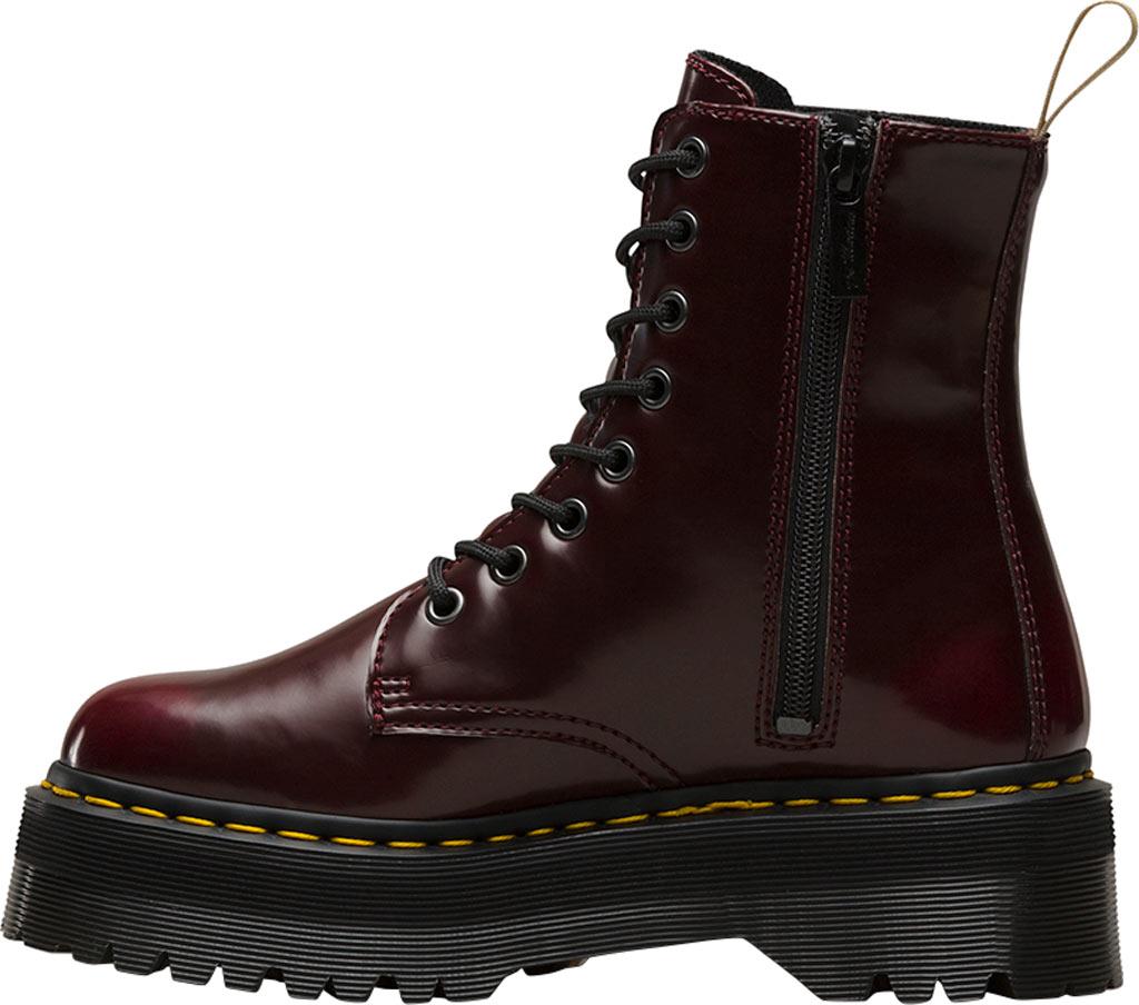 Dr. Martens Jadon 8-Eye Boot, Cherry Red Cambridge Brush Off/Vegan, large, image 3