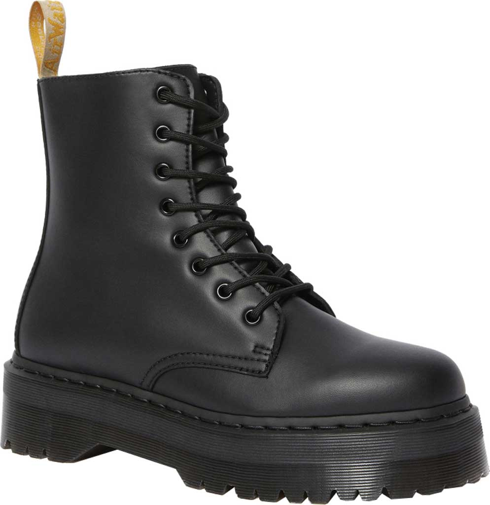 Dr. Martens Jadon 8-Eye Boot, Black Felix Rub Off Vegan, large, image 1