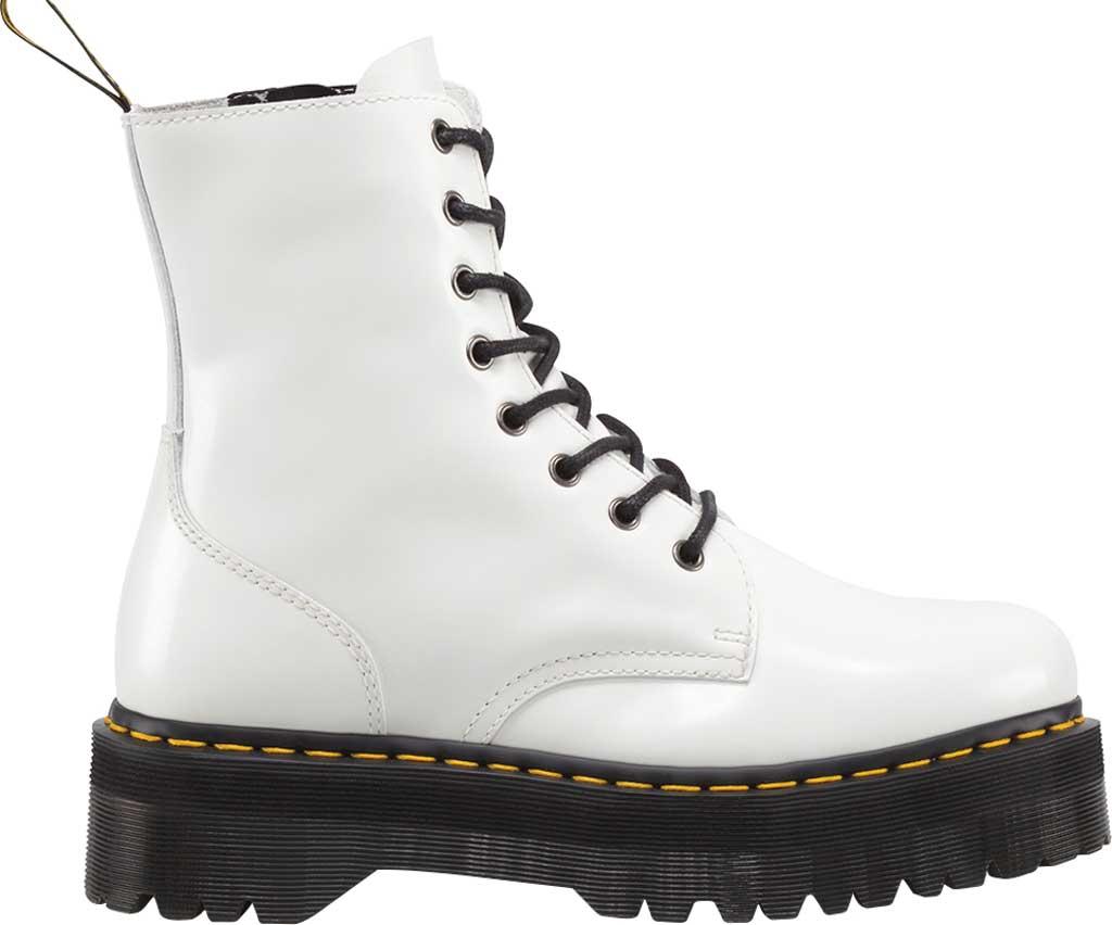 Dr. Martens Jadon 8-Eye Boot, White Polished Smooth Leather, large, image 2