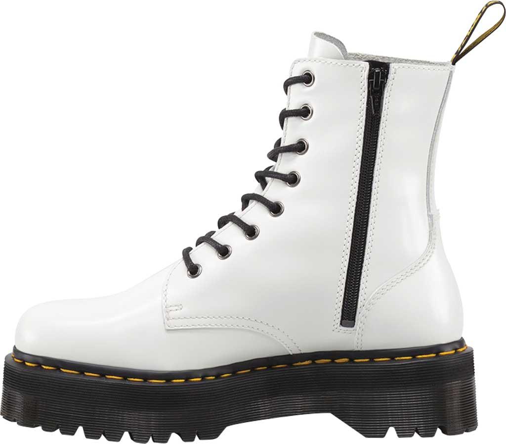 Dr. Martens Jadon 8-Eye Boot, White Polished Smooth Leather, large, image 3