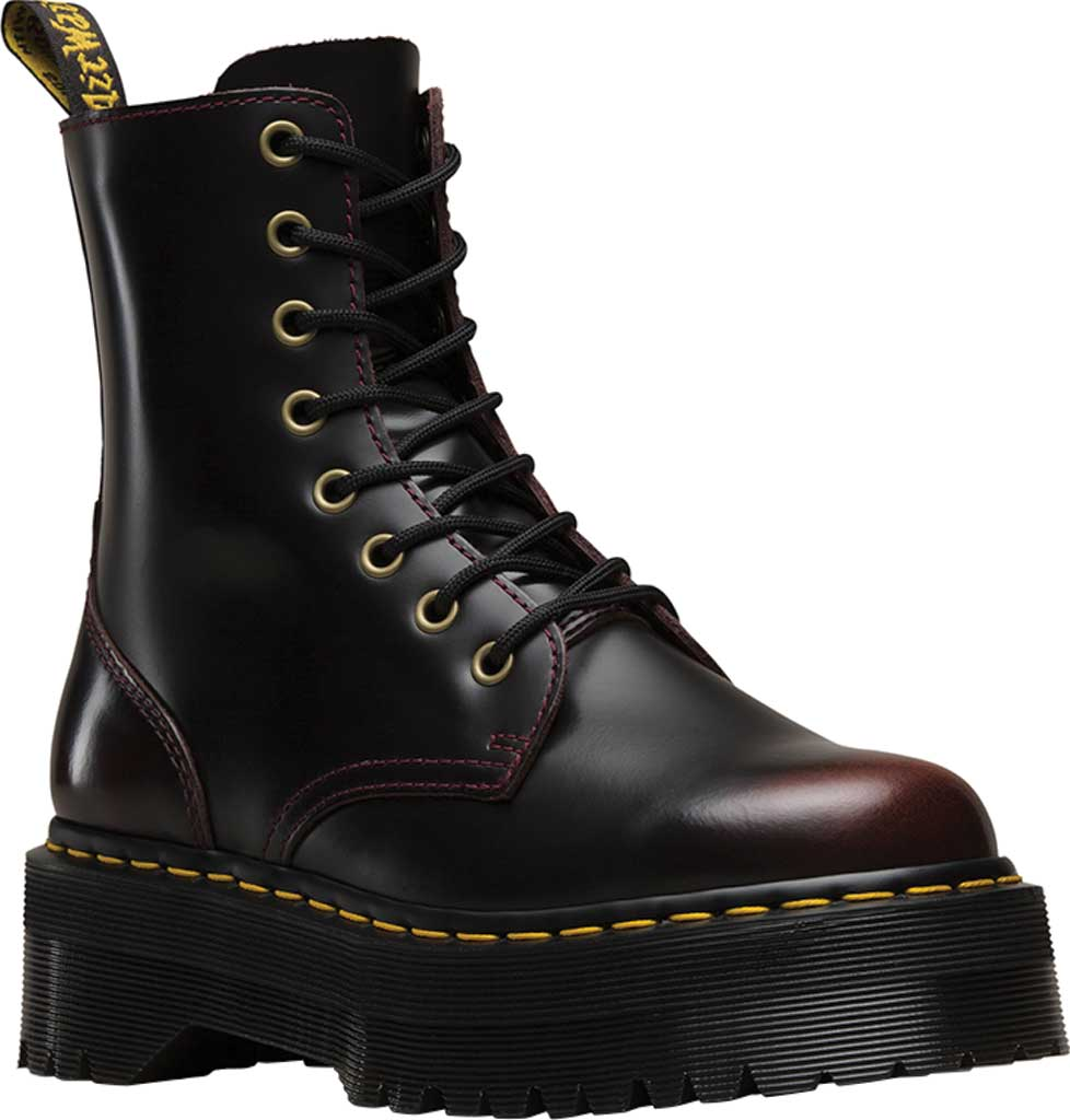 Dr. Martens Jadon 8-Eye Boot, Cherry Red Arcadia Leather, large, image 1