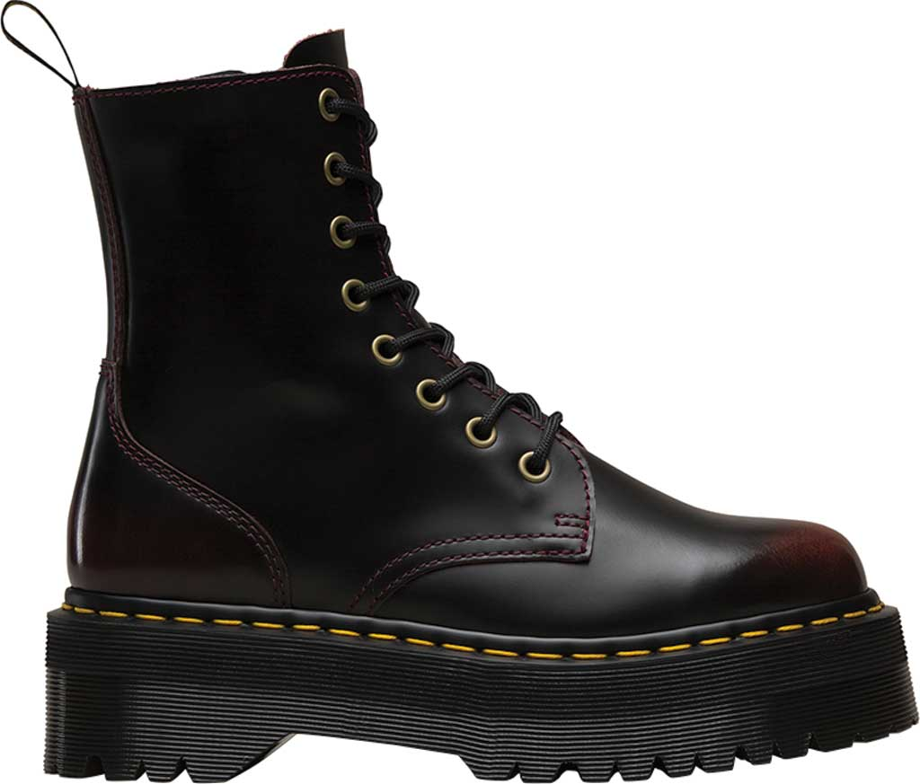 Dr. Martens Jadon 8-Eye Boot, Cherry Red Arcadia Leather, large, image 2