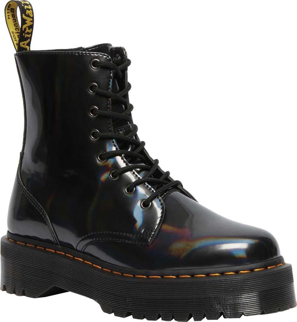 Dr. Martens Jadon 8-Eye Boot, Gunmetal Hologram Synthetic, large, image 1