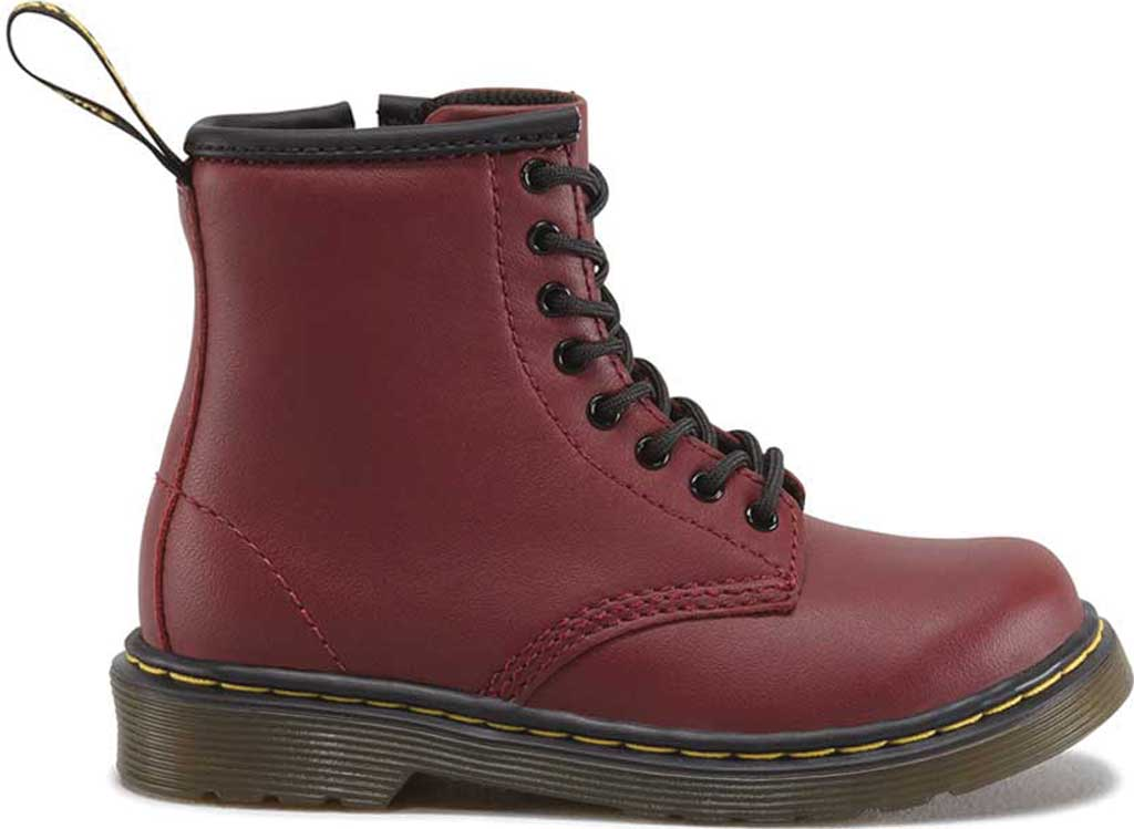 Infant Dr. Martens Brooklee Boot, Cherry Red Softy T, large, image 2