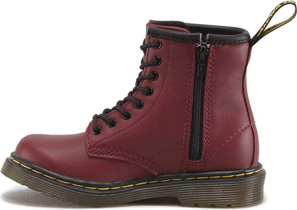 Infant Dr. Martens Brooklee Boot, Cherry Red Softy T, large, image 3