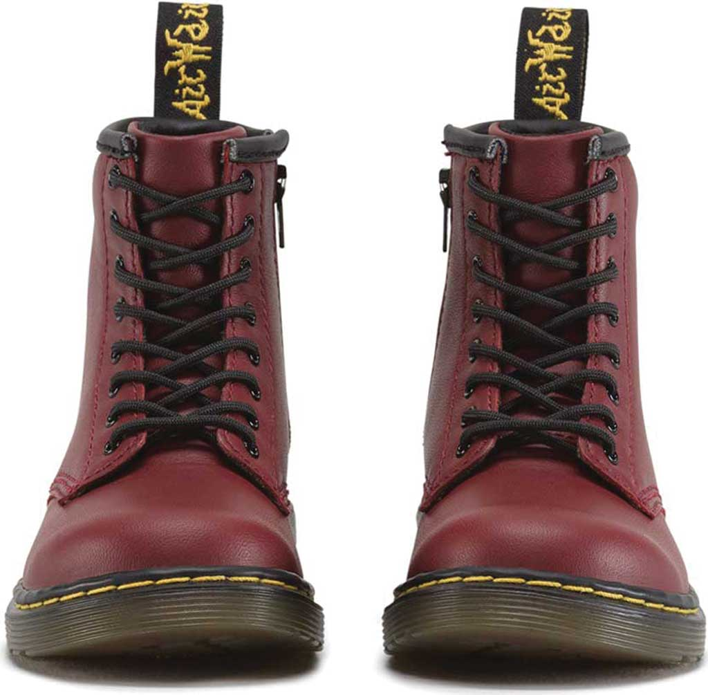Infant Dr. Martens Brooklee Boot, Cherry Red Softy T, large, image 4