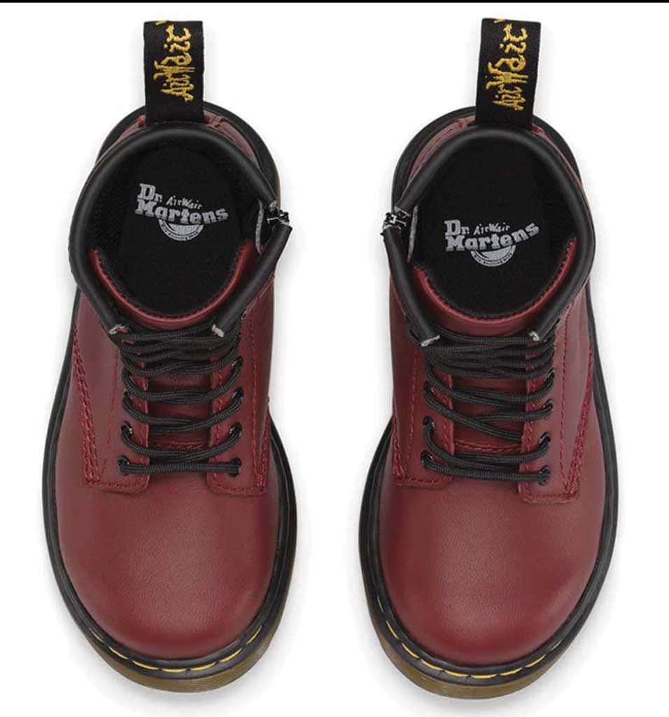 Infant Dr. Martens Brooklee Boot, Cherry Red Softy T, large, image 6