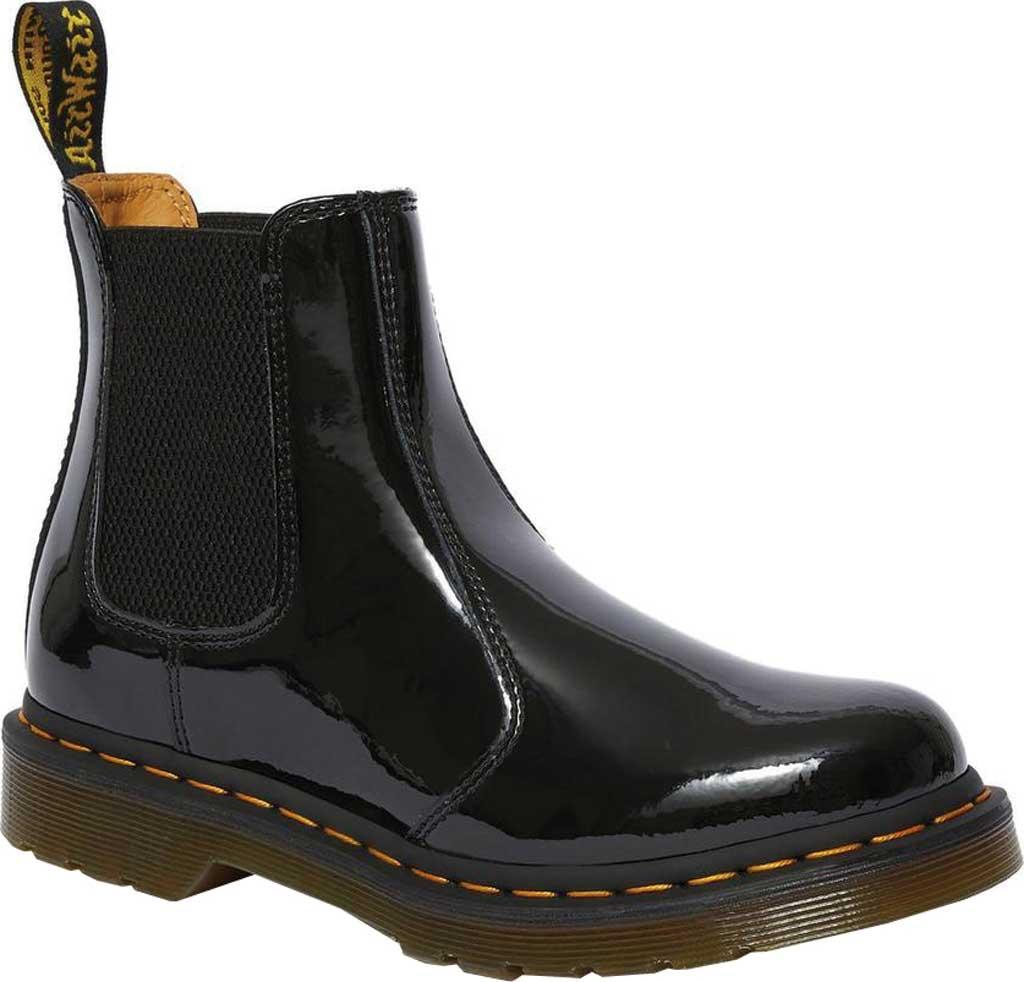Dr. Martens 2976 Chelsea Boot, Black Patent Lamper Leather, large, image 1
