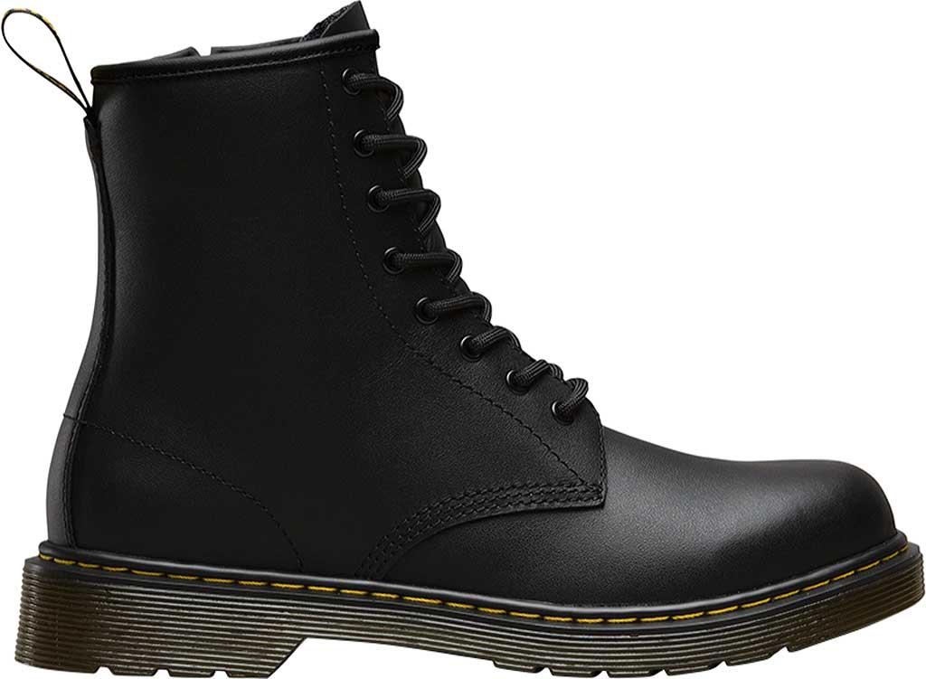 Children's Dr. Martens Delaney 8 Eye Side Zip Boot - Junior, Black Softy T, large, image 2