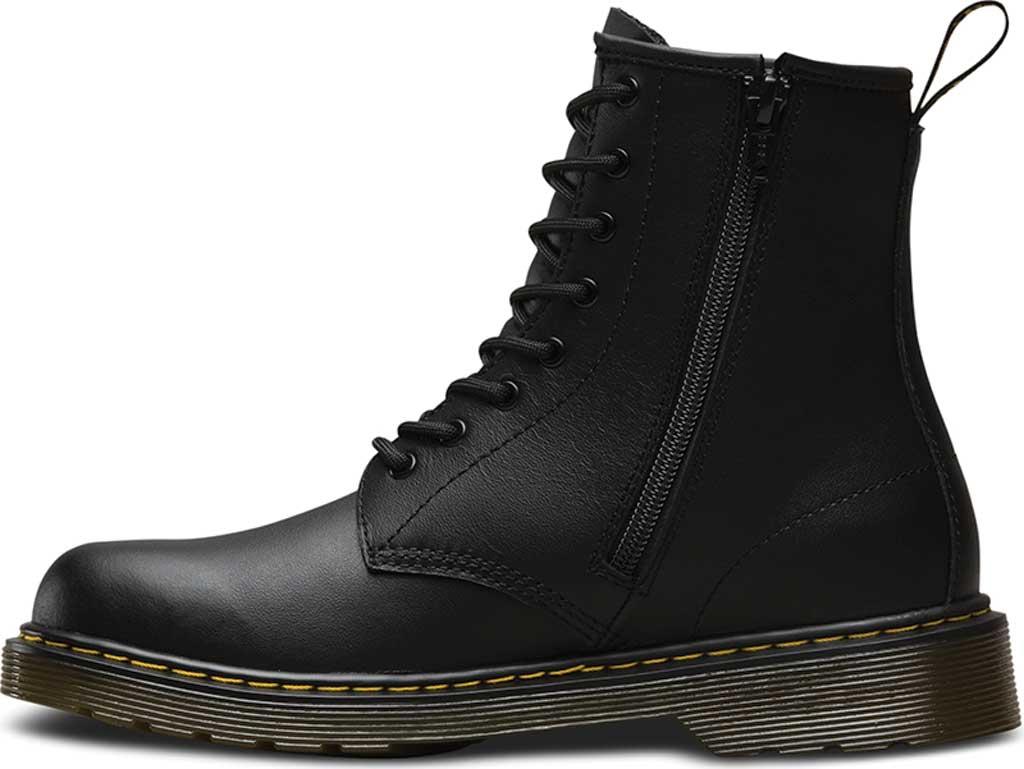Children's Dr. Martens Delaney 8 Eye Side Zip Boot - Junior, Black Softy T, large, image 3