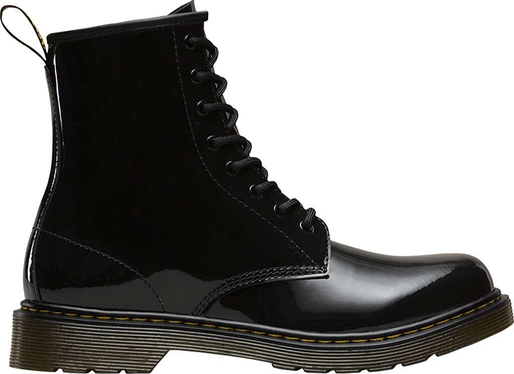 Children's Dr. Martens Delaney 8 Eye Side Zip Boot - Junior, Black Patent Lamper, large, image 2