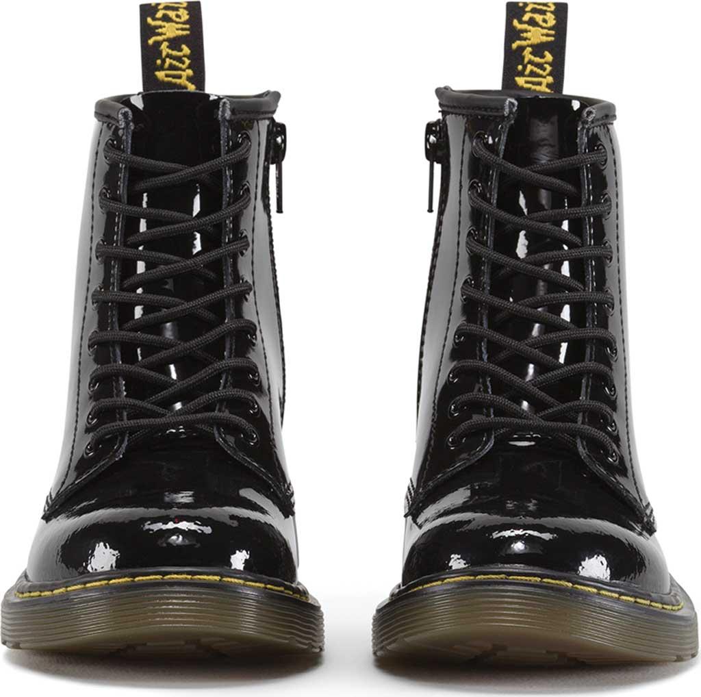 Children's Dr. Martens Delaney 8 Eye Side Zip Boot - Junior, Black Patent Lamper, large, image 4