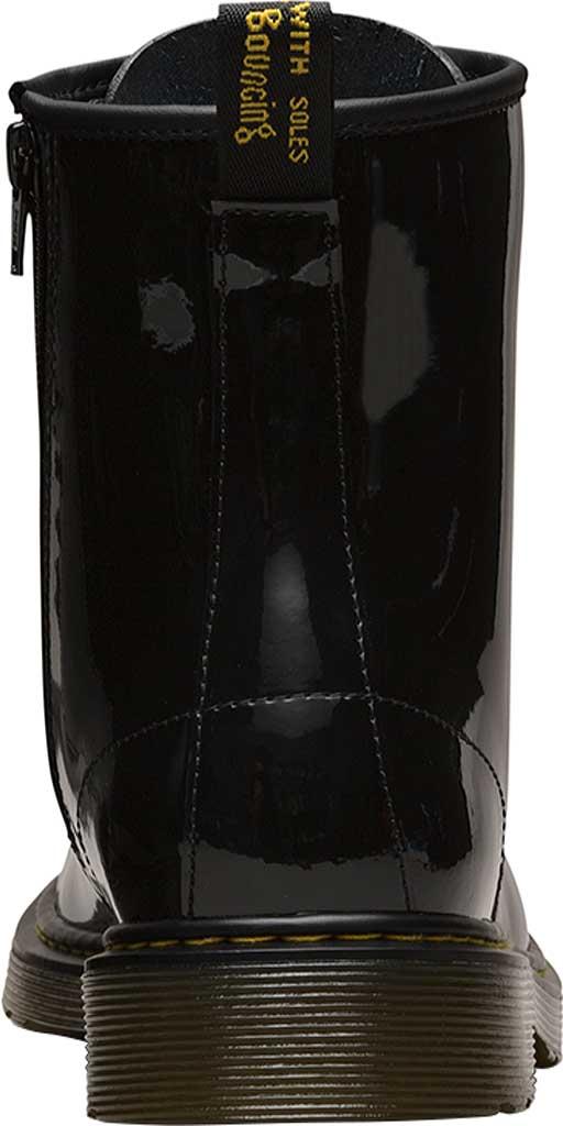 Children's Dr. Martens Delaney 8 Eye Side Zip Boot - Junior, Black Patent Lamper, large, image 5