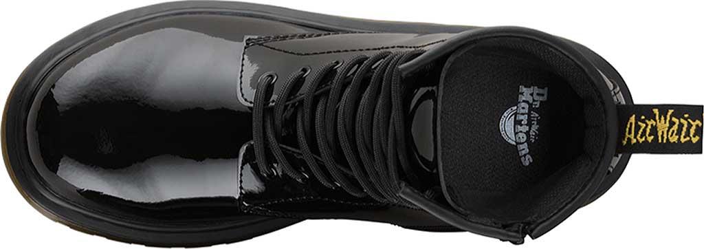 Children's Dr. Martens Delaney 8 Eye Side Zip Boot - Junior, Black Patent Lamper, large, image 6