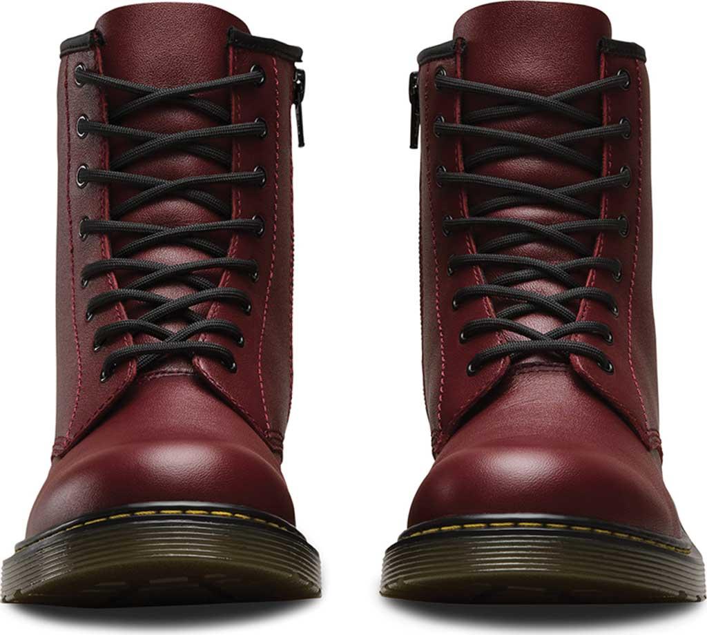 Children's Dr. Martens Delaney 8 Eye Side Zip Boot - Junior, Cherry Red Softy T, large, image 4