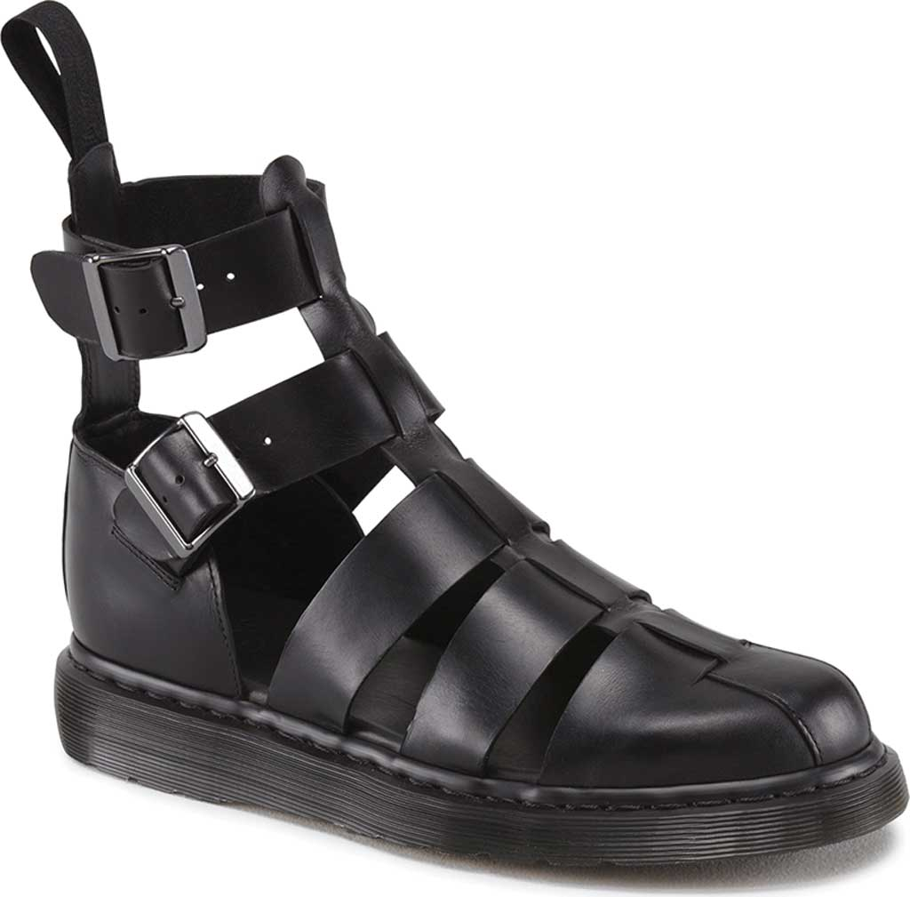 Dr. Martens Geraldo Ankle Strap Sandal, Black Brando, large, image 1