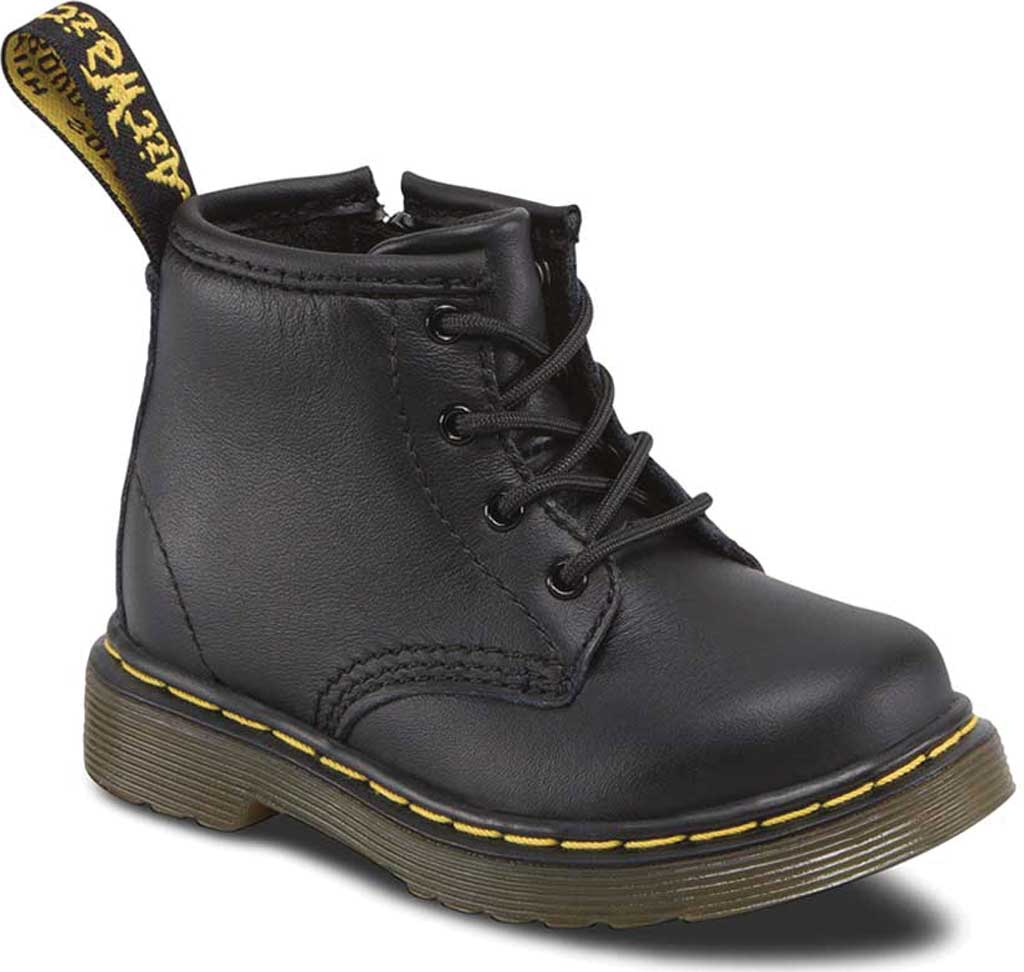 Infant Dr. Martens Brooklee B 4-Eye Lace Boot, Black Softy T, large, image 1