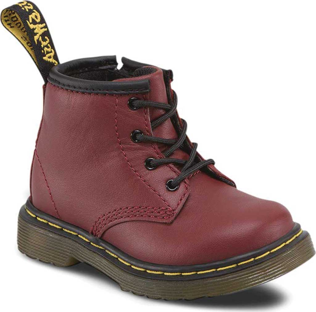 Infant Dr. Martens Brooklee B 4-Eye Lace Boot, Cherry Red Softy T, large, image 1