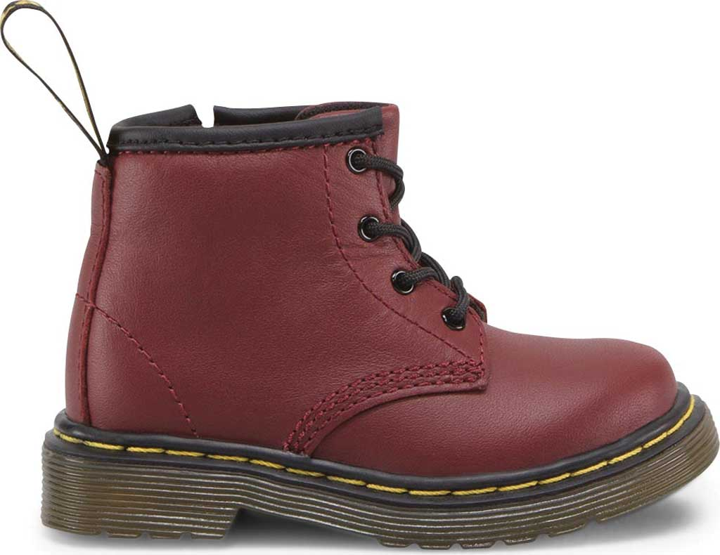 Infant Dr. Martens Brooklee B 4-Eye Lace Boot, Cherry Red Softy T, large, image 2