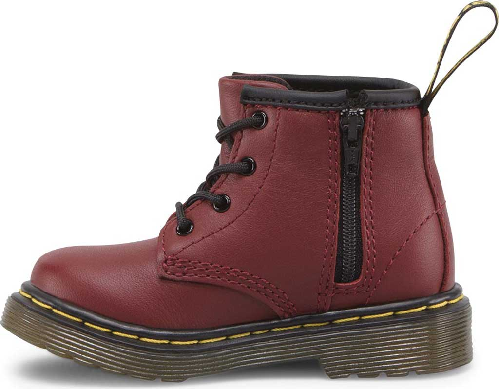 Infant Dr. Martens Brooklee B 4-Eye Lace Boot, Cherry Red Softy T, large, image 3
