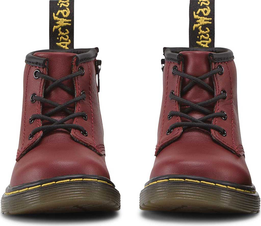 Infant Dr. Martens Brooklee B 4-Eye Lace Boot, Cherry Red Softy T, large, image 4