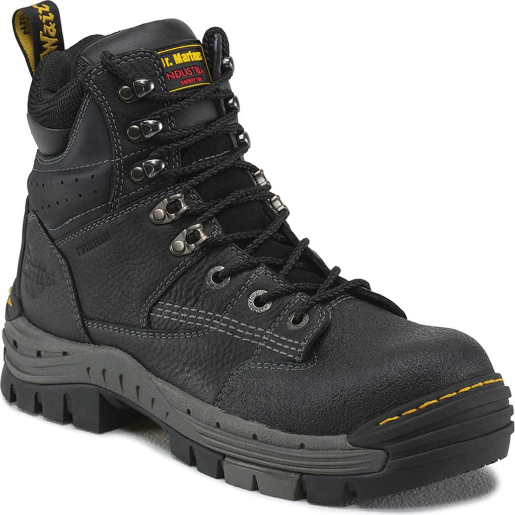 Men's Dr. Martens Work Isambard Safety Toe Waterproof, Black Industrial Grizzly, large, image 1