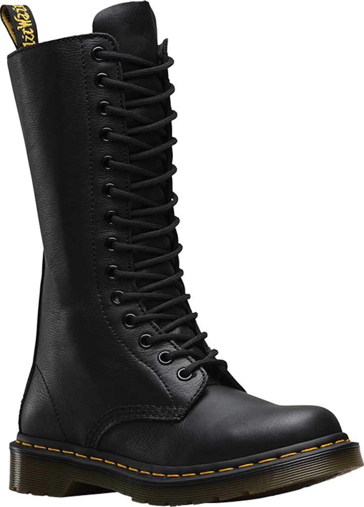 Dr. Martens 1B99 14-Eye Zip Boot, Black Virginia, large, image 1