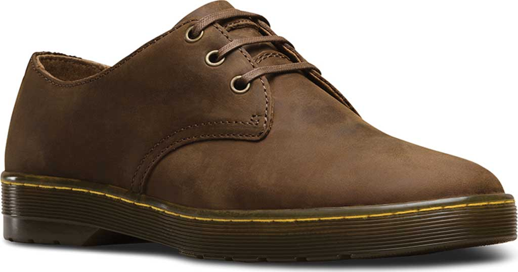 Men's Dr. Martens Coronado 3-Eye Shoe, Gaucho Crazy Horse Leather, large, image 1