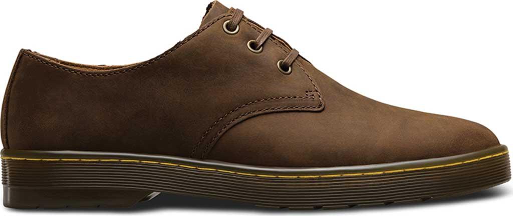 Men's Dr. Martens Coronado 3-Eye Shoe, Gaucho Crazy Horse Leather, large, image 2