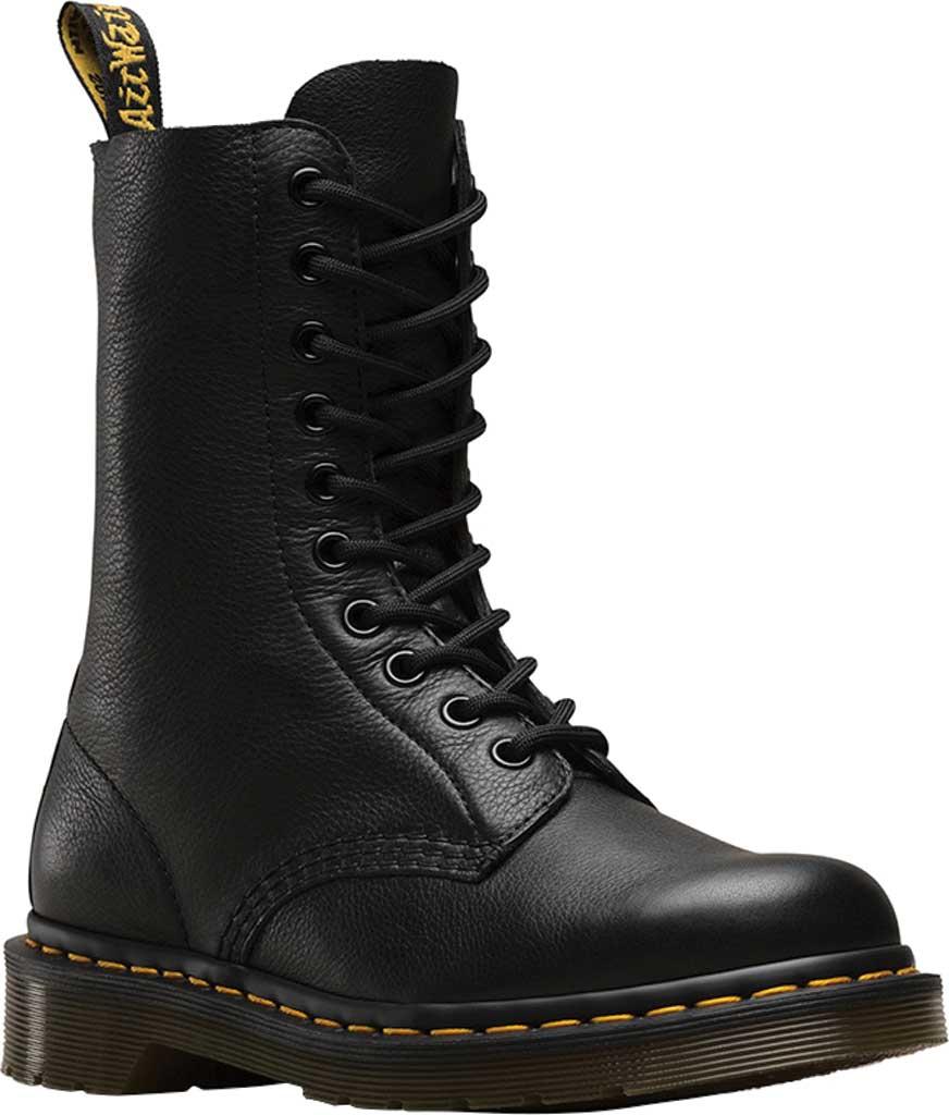 Dr. Martens 1490 10-Eyelet Boot, Black Virginia Nappa Leather, large, image 1